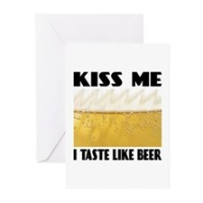 Kiss Me Beer Greeting Cards (Pk of 10)