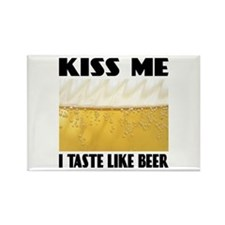 Kiss Me Beer Rectangle Magnet