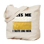 Kiss Me Beer Tote Bag