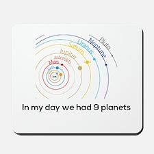 9 planets Mousepad