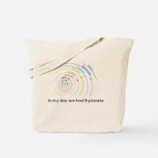 9 planets Tote Bag