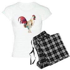 Polygon Mosaic Colorful Rooster Pajamas