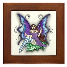 Hair Stylist Fairy Design Framed Tile