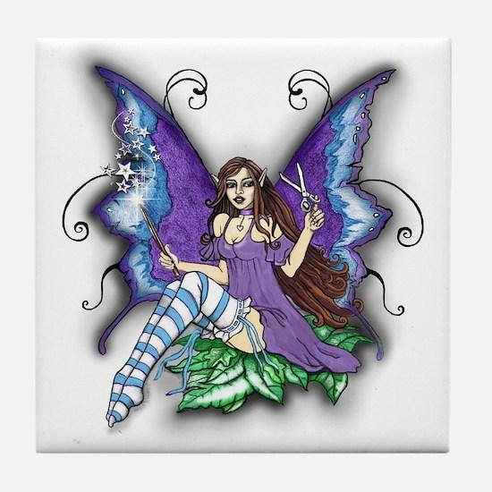 Hair Stylist Fairy Design Tile Coaster
