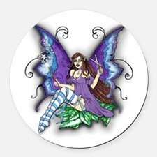 Hair Stylist Fairy Design Round Car Magnet
