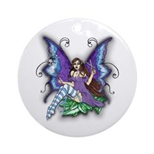 Hair Stylist Fairy Design Round Ornament