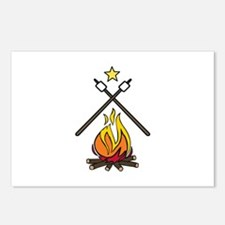 Crossed Smore Campfire Postcards (Package of 8)