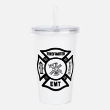 Firefighter EMT Acrylic Double-wall Tumbler