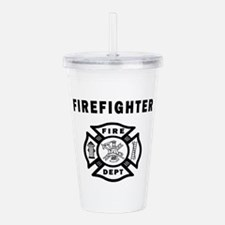 Firefighter Fire Dept Acrylic Double-wall Tumbler