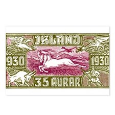 Antique 1930 Iceland Airmail Pony Postage Stamp Po
