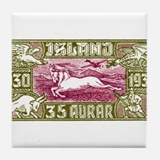 Antique 1930 Iceland Airmail Pony Postage Stamp Ti