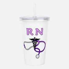 RN Nurse Medical Acrylic Double-wall Tumbler