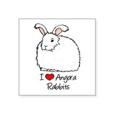I Heart Angora Rabbits Sticker