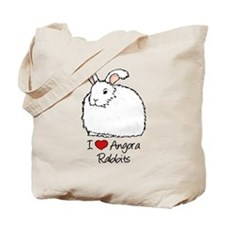 I Heart Angora Rabbits Tote Bag