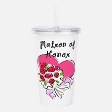 Matron of Honors Heart Bouquet Acrylic Double-wall
