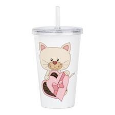 Sweetheart Cat Acrylic Double-wall Tumbler