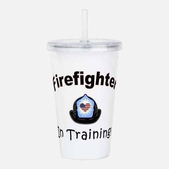 Firefighter In Training Acrylic Double-wall Tumble