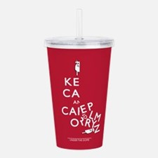 Keep Calm Half A Cow Acrylic Double-wall Tumbler