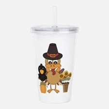 Thanksgiving Friends Acrylic Double-wall Tumbler