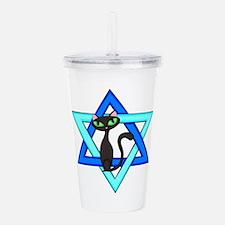 Jewish Cat Stars Acrylic Double-wall Tumbler