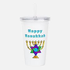 Happy Hanukkah Acrylic Double-wall Tumbler