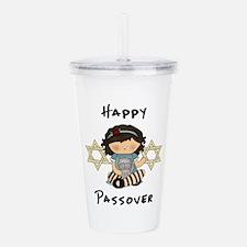 Passover Girl Matzoh Acrylic Double-wall Tumbler