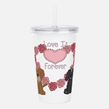 love dogs forever.png Acrylic Double-wall Tumbler