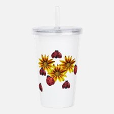 Ladybug Party Acrylic Double-wall Tumbler