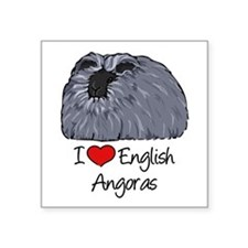 I Heart English Angoras Sticker