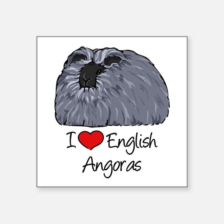 I Heart English Angoras Sticker