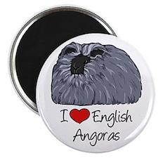 I Heart English Angoras Magnets