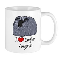 I Heart English Angoras Mugs