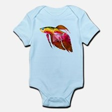 Beta Fish for Polygon Mosaic Red Yellow Body Suit