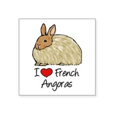 I Heart French Angora Sticker