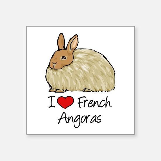 I Heart French Angora Sticker