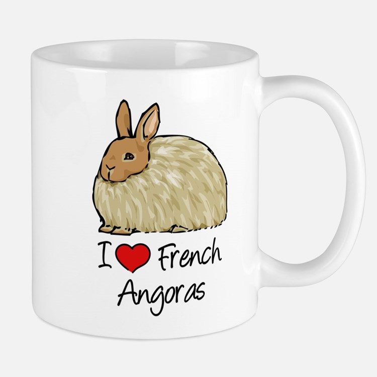 I Heart French Angora Mugs