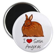 I Heart Satin Angoras Magnets