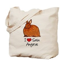 I Heart Satin Angoras Tote Bag
