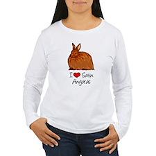 I Heart Satin Angoras Long Sleeve T-Shirt