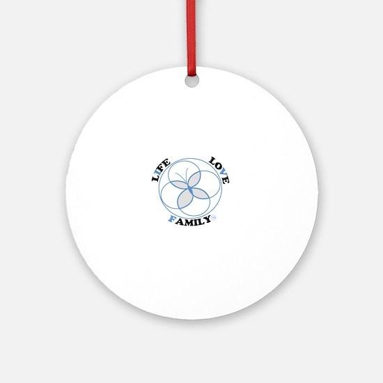 IVF Logo Blue Round Ornament
