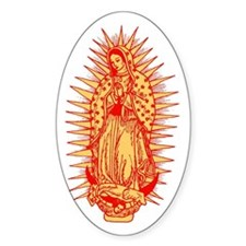 Virgin Of Guadalupe Oval Decal