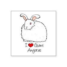 I Heart Giant Angoras Sticker
