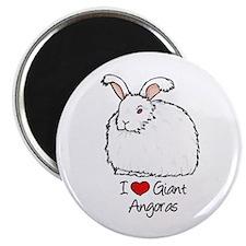 I Heart Giant Angoras Magnets