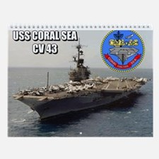 Uss Coral Sea Cva-43 Wall Calendar