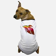 Beta Fish for Polygon Mosaic Red Yellow Dog T-Shir