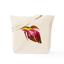 Beta Fish for Polygon Mosaic Red Yellow Tote Bag