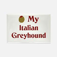 Olive(I Love) My Italian Greyhound Rectangle Magne