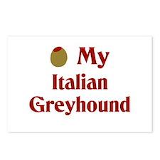 Olive(I Love) My Italian Greyhound Postcards (Pack
