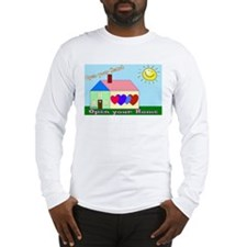 Open Your Home laptop skin Long Sleeve T-Shirt
