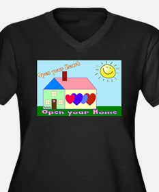 Open Your Home laptop skin Plus Size T-Shirt